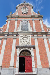 Bruges - The facade of baroque Carmelites church