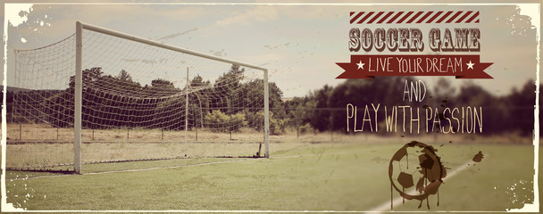 Soccer typography quote vintage banner
