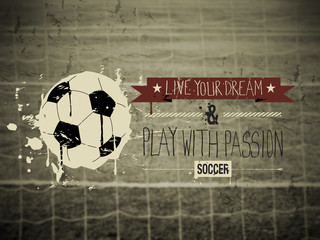 Soccer typography quote