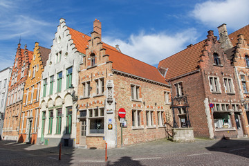 Bruges - Typically brick house from st. Jacobstraat street.
