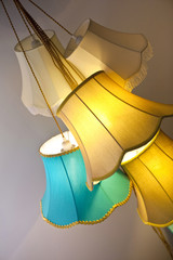Lamps made with colorful canvas