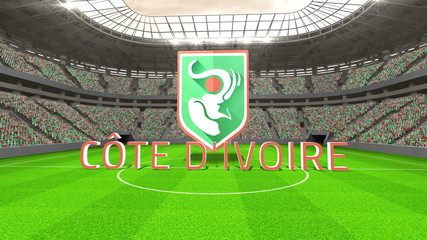 Ivory Coast world cup message with badge and text