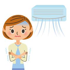 エアコンと女性 冷え症