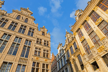 Brussels - The facade of the palaces on Grote markt square