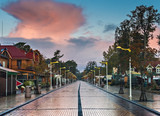 Central promenade in Palanga - famous resort in Lithuania
