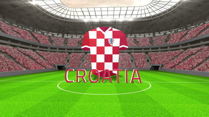 Croatia world cup message with jersey and text