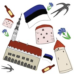 Vector symbols of Estonia