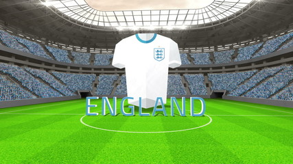 England world cup message with jersey and text