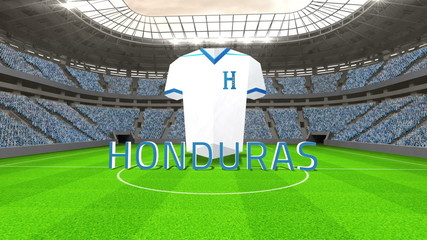 Honduras world cup message with jersey and text