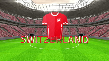 Switzerland world cup message with jersey and text