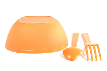 color plastic tableware