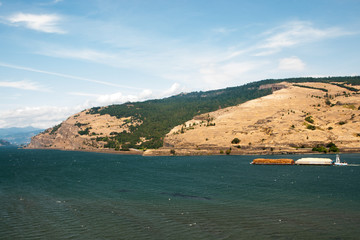 Barges on the Columbia River