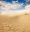 canvas print picture - Beautiful sand dunes in the Sahara desert, Tunisia