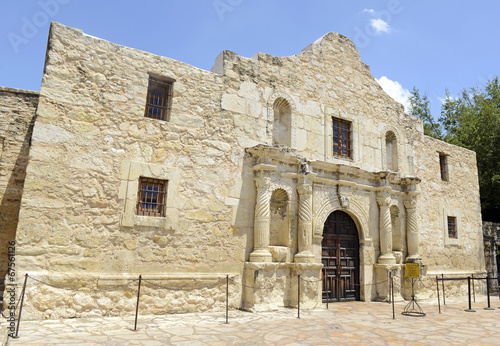 Foto Spatwand Vestingwerk The Historic Alamo, San Antonio, Texas, USA