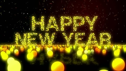 Happy New Year 2016 Zoom Loop Animation