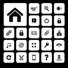 technology vector icon set