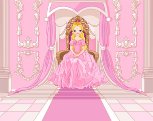 Princess on the throne