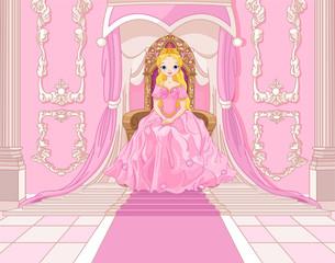 fototapeta księżniczka na tronie