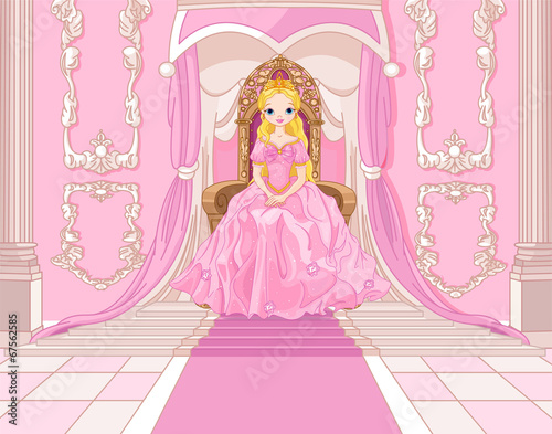 Fototapeta Princess on the throne