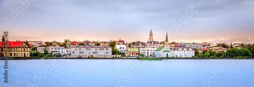 Fotobehang Noord Europa Reykjavik skyline