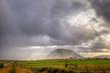 canvas print picture - Storm over farm