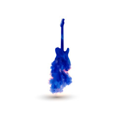 Illustration of guitar, easy all editable