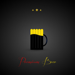 Premiun beer design menu background, easy all editable