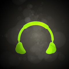 Abstract Light Headphones, easy all editable
