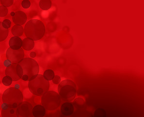 abstract background red bokeh circles