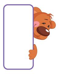 Bear. Baby animal banner