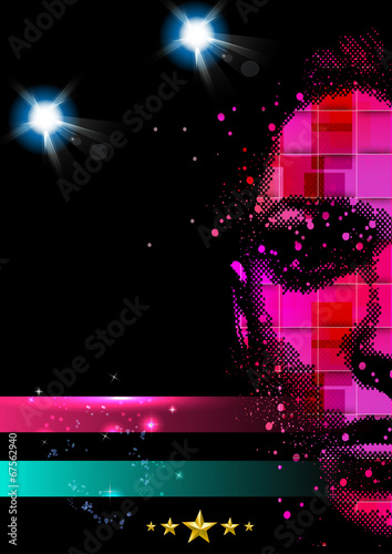 Disco Party Poster Background Template
