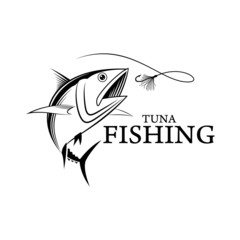 vector fishing tuna