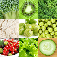 Green healthy food background