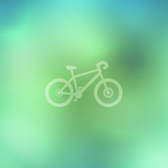 Bicycle on abstract background