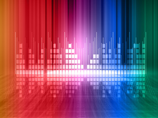 Colorful equalizer background .