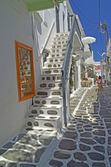 mykonos alley  steps