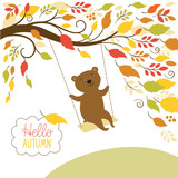 Fototapety Autumn illustration