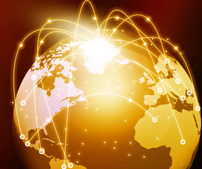 Internet Concept of global networking .