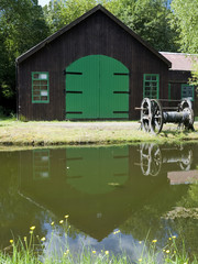 old canal boatshed