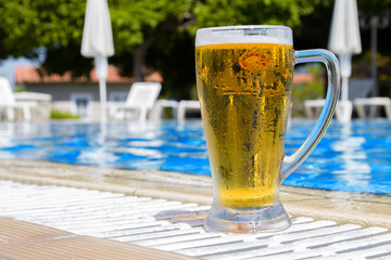 Beer on the pool