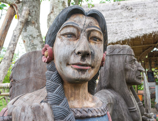 old wooden indian lady