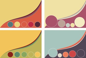 vintage abstract colours