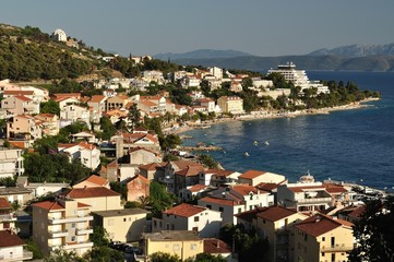 Birdview of Podgora in Croatia