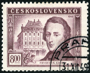 CZECHOSLOVAKIA - 1949: shows Frederic Chopin (1810-1849)