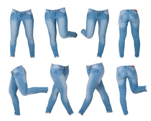 collage of women's jeans