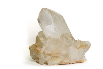 Large quartz crystal from Brazil. 16cm across.