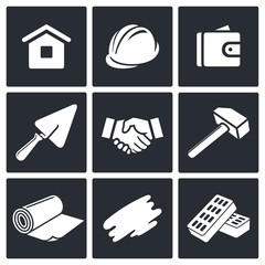 Construction and home repair icons set