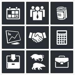 Financial Exchange icon set