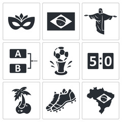 Soccer vector icon collection
