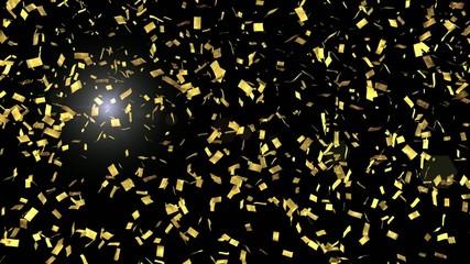 金の紙吹雪